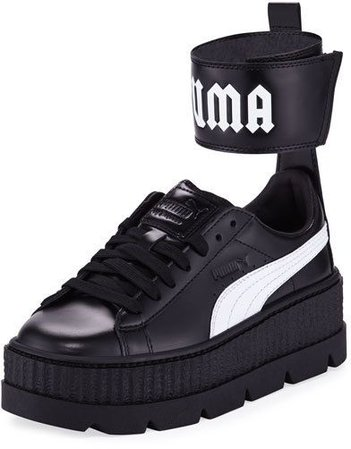 Fenty Puma by Rihanna Leather Ankle-Strap Platform Sneaker