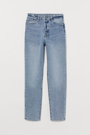 Mom High Ankle Jeans - Light denim blue/washed - Ladies | H&M CA