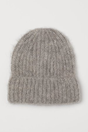 Wool-blend Hat - Gray