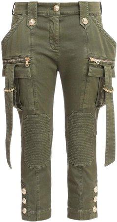 Stretch Cotton Skinny Cargo Pants