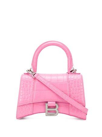Balenciaga Hourglass XS tote bag pink 5928331LR6Y - Farfetch