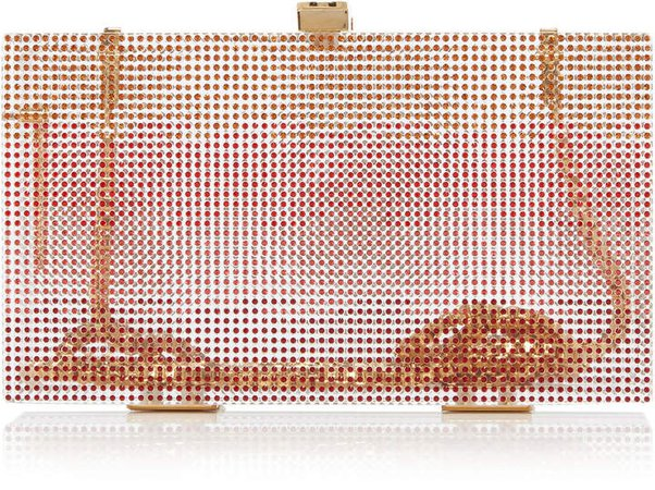 Marzook Sunset Swarovski Crystal Box Clutch