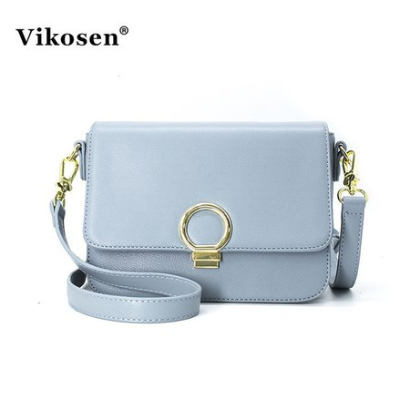 Vikosen 2017 Summer New Style One Shoulder Bag Lady Handbags Fashion Bag Elegant Women Leather Bag Light Blue Bag VK17021756-in Crossbody Bags from Luggage & Bags on Aliexpress.com | Alibaba Group