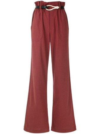 Framed Linen Wide Leg Trousers Aw19   Farfetch.Com