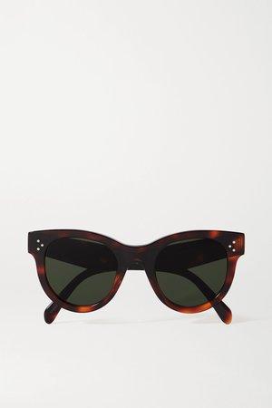 Tortoiseshell Round-frame tortoiseshell acetate sunglasses | Celine | NET-A-PORTER