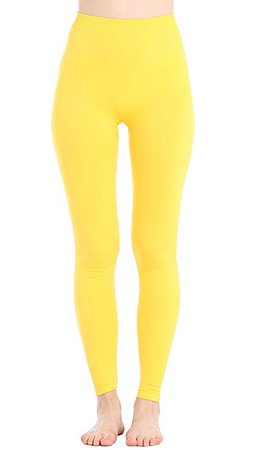 Women's Leggings High Waist Full Length Seamless Yoga Pants for Women & Girls(L/XL, Golden Sun) at Amazon Women's Clothing store: