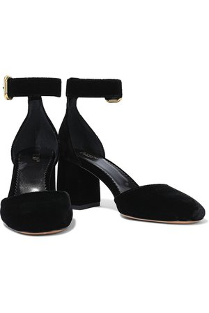 Black Velvet pumps | Sale up to 70% off | THE OUTNET | RED(V) | THE OUTNET