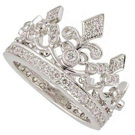 White Gold Crown Ring