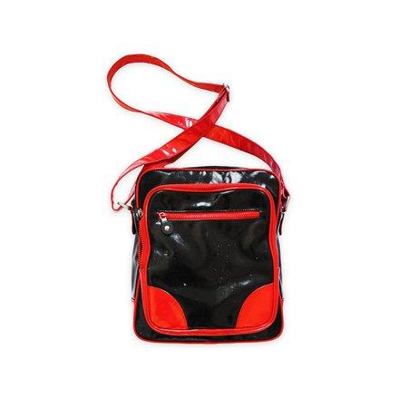 FIORUCCI MESSENGER BAG Vinyl Red And Black Vintage Y2K   Etsy