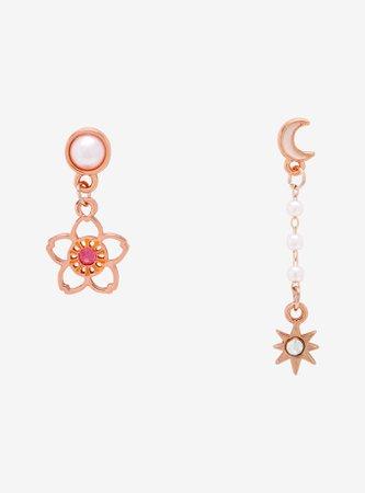 Cardcaptor Sakura Flower & Star Mismatch Earrings