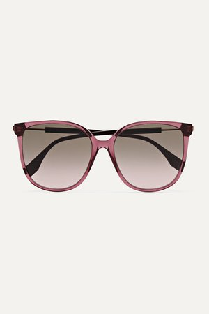 Fendi | Square-frame acetate and gold-tone sunglasses | NET-A-PORTER.COM
