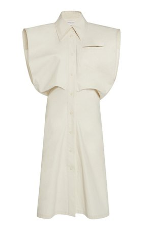 Coated Cotton-Canvas Midi Dress by Bottega Veneta | Moda Operandi