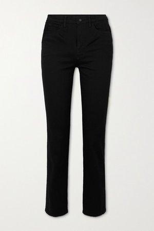 Teagan High-rise Straight-leg Jeans - Black