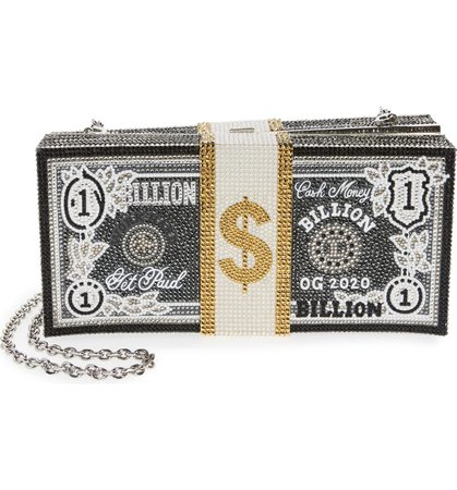Judith Leiber Stack of Cash Billion Crystal Embellished Clutch | Nordstrom