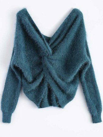 Twisted Fluffy Chenille Sweater