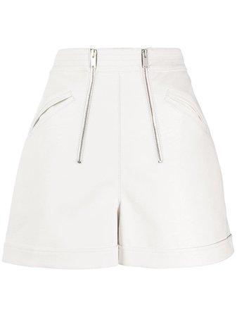 Stella McCartney high-waisted Double Zip Shorts - Farfetch