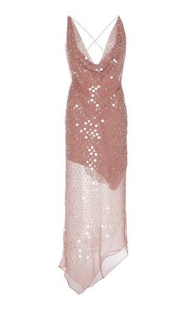 One-Shoulder Draped Chiffon Gown by Marchesa | Moda Operandi