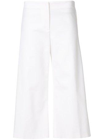 Carolina Herrera, White Classic Culottes Pants