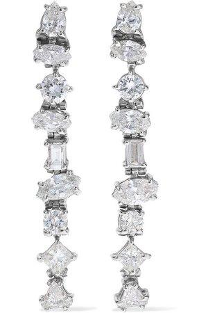 Kimberly McDonald | 18-karat white gold diamond earrings | NET-A-PORTER.COM