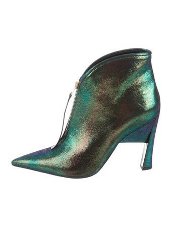Marni Iridescent Nubuck Ankle Boots w/ Tags - Shoes - MAN67251   The RealReal