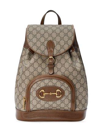 Gucci 1955 Horsebit logo-print Backpack - Farfetch