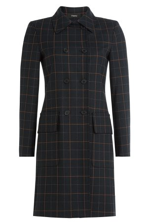 Checked Coat with Virgin Wool Gr. XS