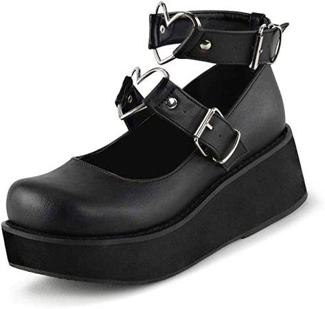Amazon.com   Erocalli Flat Ankle Strap Mary Jane Shoes Cute Japanese Lolita Shoes Harajuku Cosplay Shoes   Flats