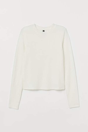Long-sleeved Top - White
