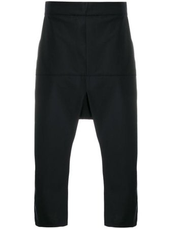 Odeur Dropped Crotch Cropped Trousers - Farfetch