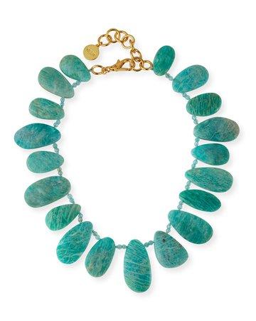 NEST Jewelry Amazonite Petal Necklace