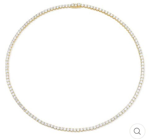 Gold Diamond Choker Necklace