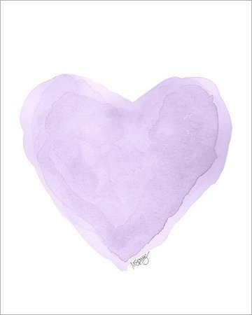 Lilac Watercolor Heart