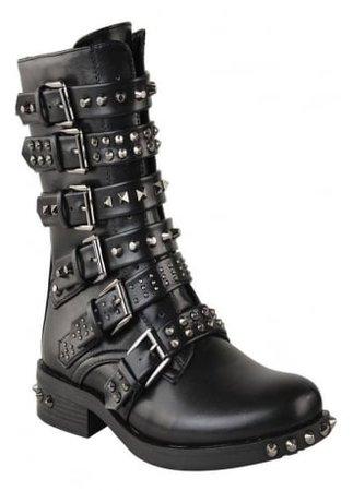 Multi Stud Biker Boot | Attitude Clothing
