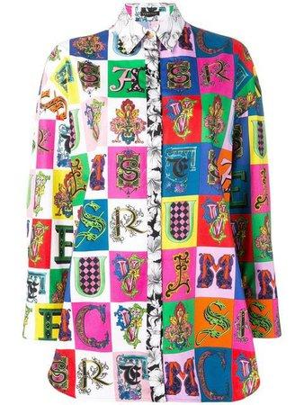 Versace Alphabet Print Shirt - Farfetch