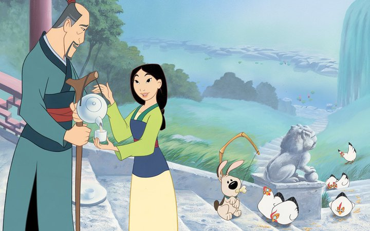 Mulan with her Father
