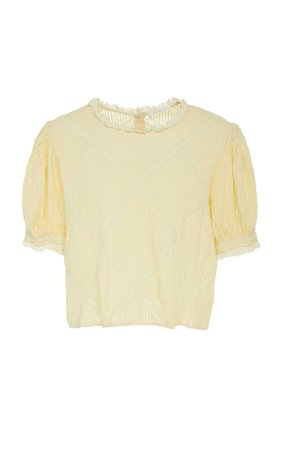 ADDIE Cotton Top in Yellow