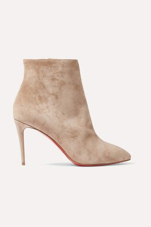 Eloise 85 Suede Ankle Boots - Beige