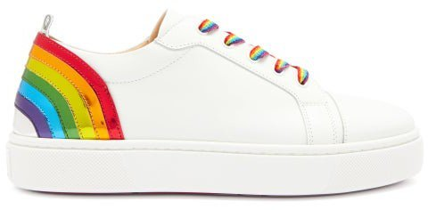 Arkenspeed Rainbow Leather Trainers - White Multi