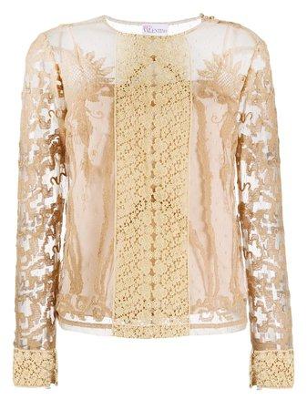 RedValentino Layered Lace Blouse - Farfetch