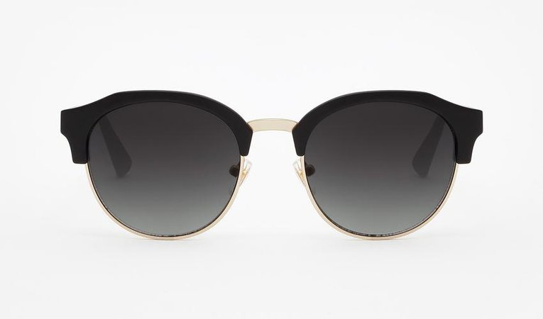 Rubber Black · Dark Classic Rounded | Hawkers CO