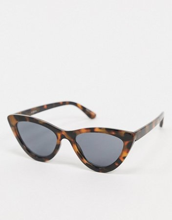 Pieces cateye sunglasses in tortoise shell | ASOS