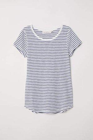 Striped Jersey Top - Blue