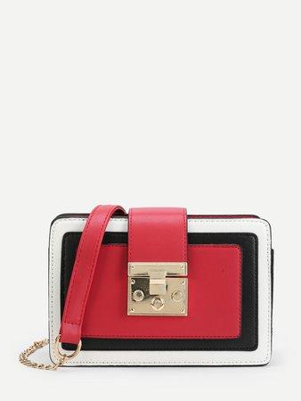 Metal Buckle Detail Crossbody Bag