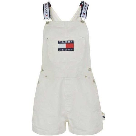 TOMMY JEANS Denim Dungaree Shorts ($155)