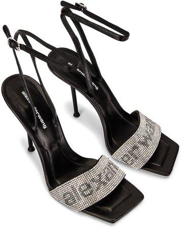 Julie Ankle Strap Sandal in Black | FWRD