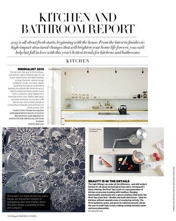 Harper's Bazaar Interiors x Flodeau : Kitchen & Bathroom Trends 2013 – Flodeau