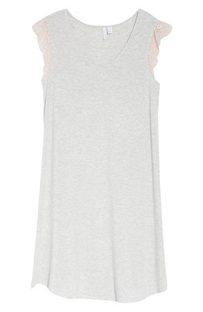 Nordstrom Moonlight Lace Trim Nightgown | white