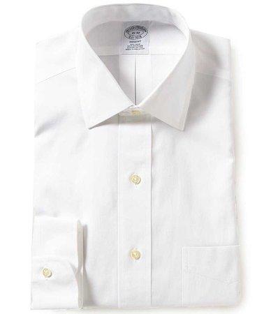 Brooks Brothers Non-Iron Regent Fit Spread-Collar Solid Dress Shirt | Dillards