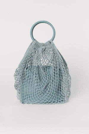 Cotton Mesh Shopper - Turquoise