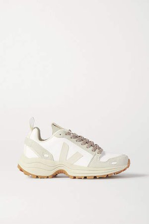Veja Vegan Leather And Suede Sneakers - White